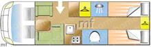 Dethleffs Globetrotter XLI 7850EB0-, 2017 motorhome layout