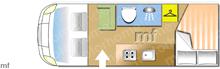 Elddis Accordo 135, 2019 motorhome layout