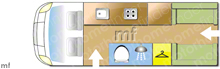 Autosleeper Warwick XL 2015 motorhome layout