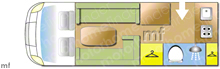 Bailey Alliance 59-2, 2019 motorhome layout