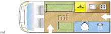 Autosleeper Symbol, 2011 motorhome layout