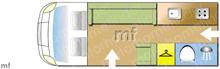 Autosleeper Topaz, 2012 motorhome layout
