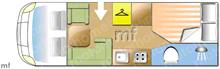 Dethleffs Advantage , 2017 motorhome layout