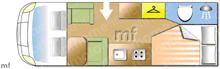 Hobby Siesta Exclusive, 2011 motorhome layout