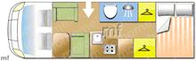 Mobilvetta , 2007 motorhome layout