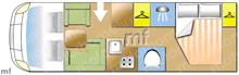 Chausson Allegro 97, 2009 motorhome layout