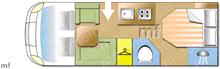 Swift Escape 694/5, 2018 motorhome layout