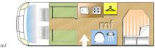 Autotrail Tracker RB Hi-Line, 2016 motorhome layout