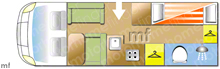 Burstner Ixeo  666 TI, 2009 motorhome layout