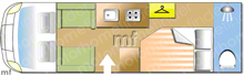 Swift Bolero 722 FB, 2014 motorhome layout