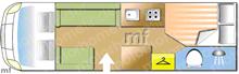 Autosleeper Kingham, 2015 motorhome layout