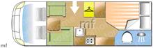 Weinsberg CaraSuite  650MF, 2018 motorhome layout