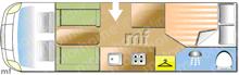 Hobby FML 750, 2006 motorhome layout