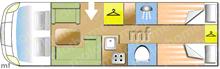 Hymer BDL 678, 2018 motorhome layout