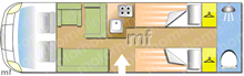 Swift Kon-tiki Sport 574 6B 150..., 2020 motorhome layout