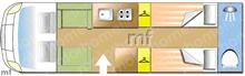 Compass Avantgarde 185, 2020 motorhome layout