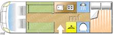 Autotrail Frontier Mohawk, 2014 motorhome layout