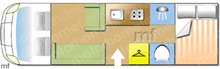 Swift Esprit 484, 2015 motorhome layout