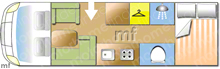 Dethleffs Esprit Comfort A7820-2, 2017 motorhome layout