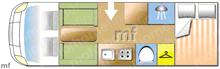 Rapido 7096+, 2010 motorhome layout