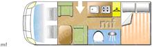 Chausson FLASH 514, 2018 motorhome layout