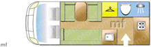 Autosleeper Broadway EK, 2011 motorhome layout