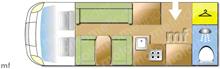 Mobilvetta New Life 3, 2007 motorhome layout