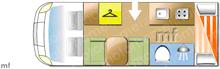 Chausson FLASH C646, 2018 motorhome layout