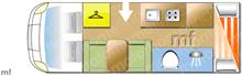 Chausson Flash 646, 2018 motorhome layout