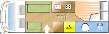 Swift Kontiki 665 P, 2007 motorhome layout
