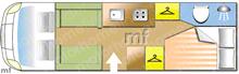 Autotrail Imala 715 Hi-Line, 2016 motorhome layout