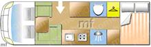 Dethleffs Trend A7877-2, 2020 motorhome layout