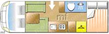 Adria Coral XL 670sp, 2017 motorhome layout