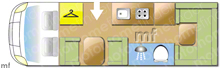 Rollerteam Autoroller 746, 2015 motorhome layout