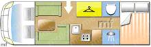 Autotrail Mohawk Lo-Line, 2017 motorhome layout