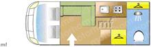 Autosleeper Kemerton XL, 2021 motorhome layout