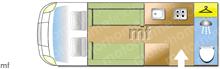 Elddis ENCORE 275 MAGNUM 2021, 2021 motorhome layout