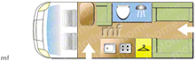 Autotrail AUTOTRAIL V-LINE 636 AUTO, 2020 motorhome layout