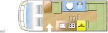 Swift ESCAPE COMPACT C402, 2019 motorhome layout