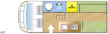 Autocruise Starspirit, 2011 motorhome layout