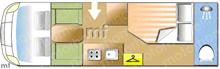 Burstner Solano T710, 2008 motorhome layout
