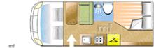 Swift SELECT 164, 2022 motorhome layout
