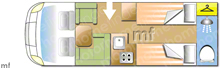 Adria Coral Supreme 670 SLT, 2021 motorhome layout