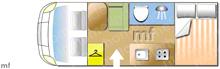 Autocruise Pace, 2009 motorhome layout