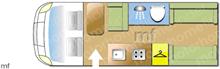 Elddis Accordo 135, 2020 motorhome layout
