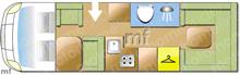 Swift MONDIAL, 2011 motorhome layout