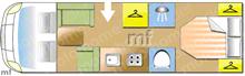 Adria Coral 690SC Platinum , 2017 motorhome layout