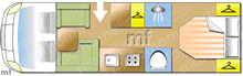 Dethleffs ESPRIT T7150, 2016 motorhome layout