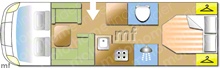 Dethleffs Esprit I7150 2 DBM, 2015 motorhome layout