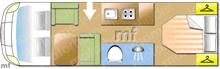 Dethleffs Trend t6557 DBM, 2020 motorhome layout